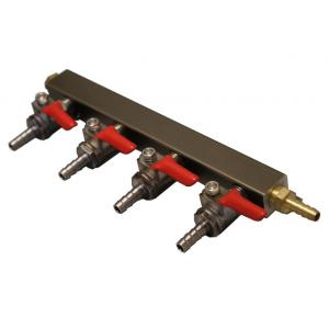 "Gas Manifold - 4 Way Supply with 1/4"" Barbs"