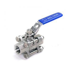 "Ball Valve - 1/2"" 3 Piece Stainless Steel"