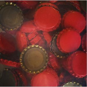 Beer Bottle Caps - Red