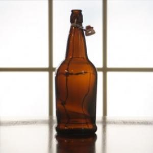 Beer Bottles - 1 Liter Amber Grolsch Flip Top Bottles