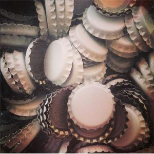 Beer Bottle Caps - White
