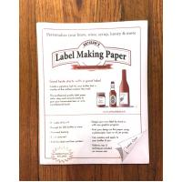 Wine Labels - White Label Making Paper
