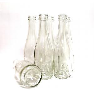 Wine Bottles - 187mL Clear Champagne Style Bottles, Mid-Punt Bottom
