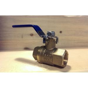"Ball Valve - 1/2"" Brass 1 Piece Ball Valve"