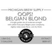 Oops Belgian Blond Extract Brewing Kit