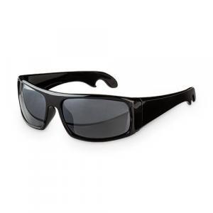 Bottle Opener Sunglasses - Black Sporty Sunglasses