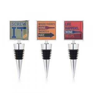 Bottle Stopper - Assorted Wine Humor Bottle Stoppers by True