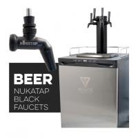 Kegerator - Triple Tap with MATTE BLACK Stainless Steel Tower & Faucets