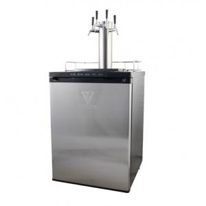 Kegerator - Quad Tap with Intertap Stainless Steel Faucets