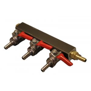"Gas Manifold - 3 Way Supply with 1/4"" Barbs"