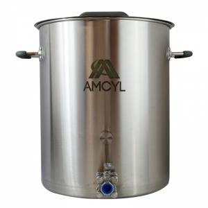 Brew Kettle - 15 Gallon AMCYL w/ Weldless Ball Valve, Port & Plug