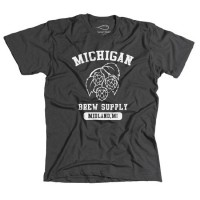 Michigan Brew Supply Original T-Shirt in Grey - Medium