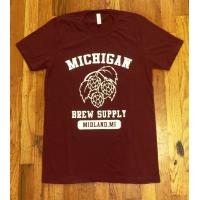 Michigan Brew Supply Original T-Shirt in Red - Medium