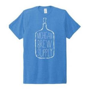Michigan Brew Supply Carboy T-Shirt in Blue - Large