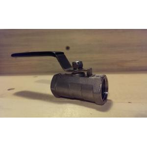 "Ball Valve - 1/2"" 1 Piece Stainless Steel"