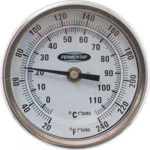 "Thermometer - 3"" Face x 2.5"" Probe, Weldless"