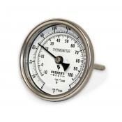 """Thermometer - 3"""" Face x 4"""" Probe, Weldless"""