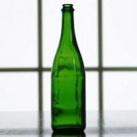 Wine Bottles - 750mL Vineyard Green Champagne Bottles, Flat Bottom