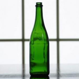 Wine Bottles - 750mL Vineyard Green Champagne Bottles, Flat Bottom