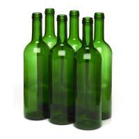 Wine Bottles - 750mL Green Bordeaux Bottles, Flat Bottom