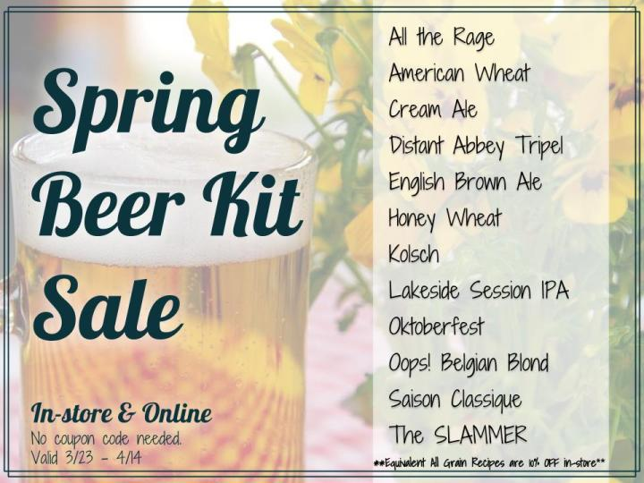 Spring Beer Kit Sale