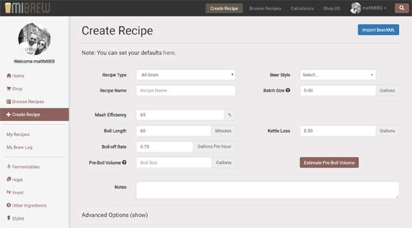 MIBrew - Fall Updates - BeerXML and more!