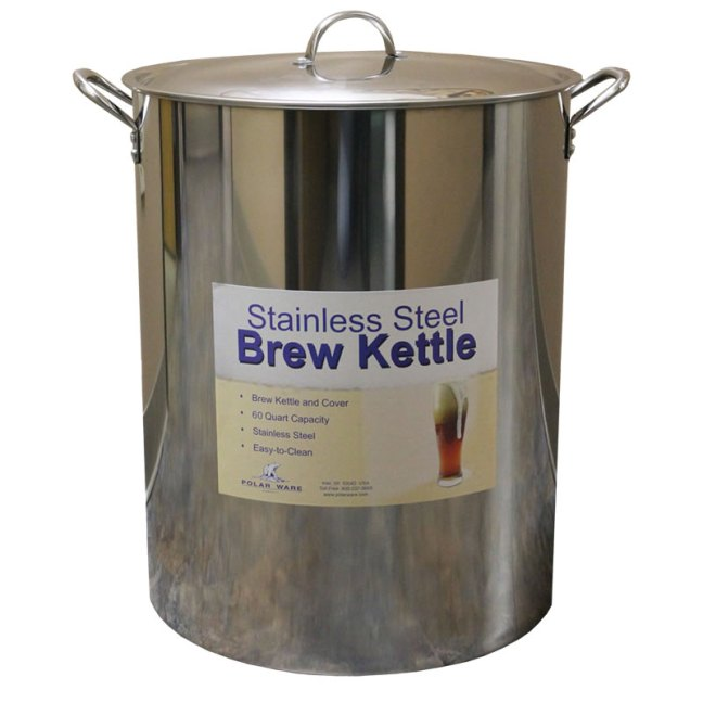 Brew Kettle 15 Gallon 60 Qt Stainless Michigan Brew