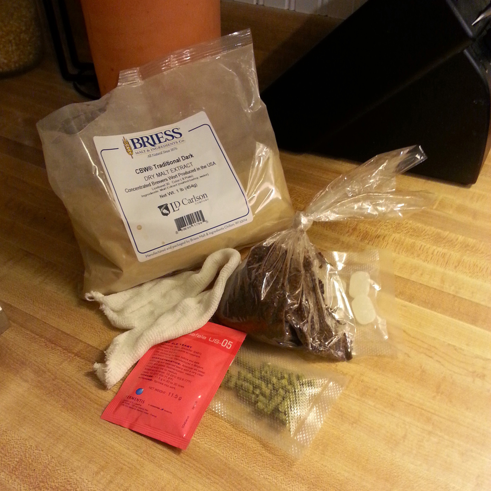 One Gallon Brew Kit Ingredients